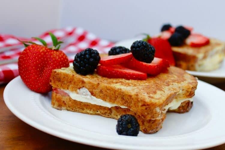 Strawberry & Ricotta Stuffed French Toast