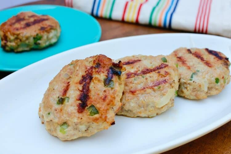 Lean & Healthy Chicken Philly Burgers