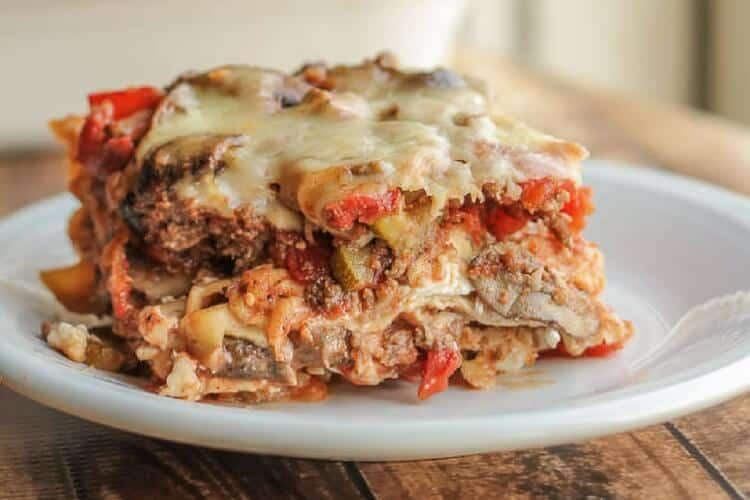 healthy lasagne