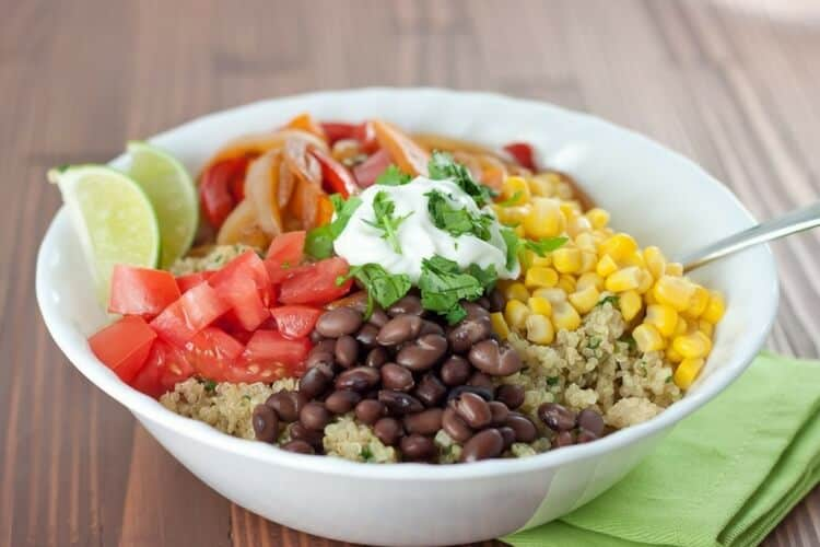 healthy quinoa with vegetables