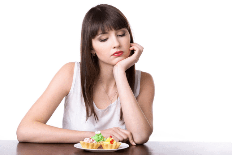 woman who is sad about diet side effects