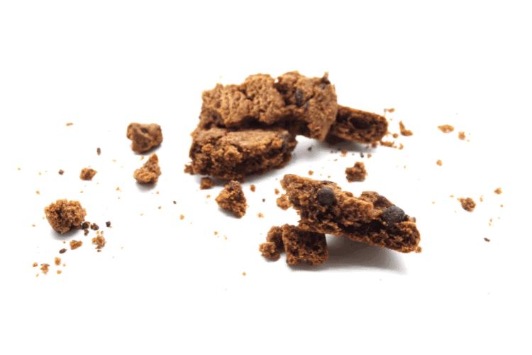 broken and crumbled cookies