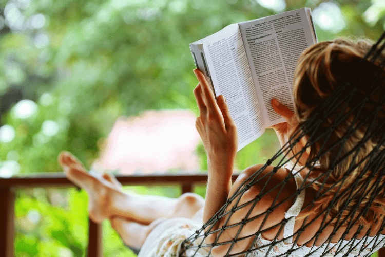 woman reading her Bible