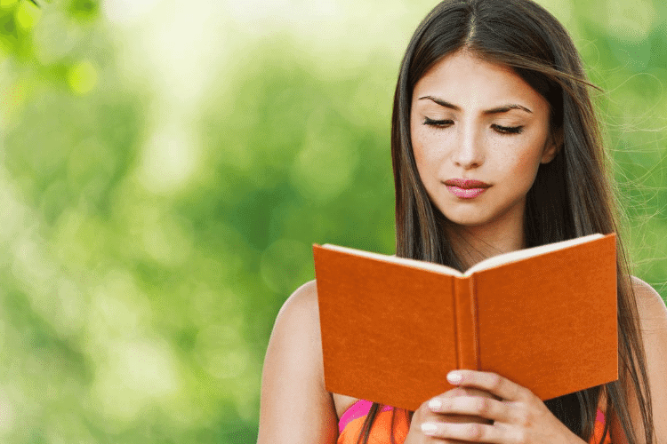 woman reading what the Bible says about body image