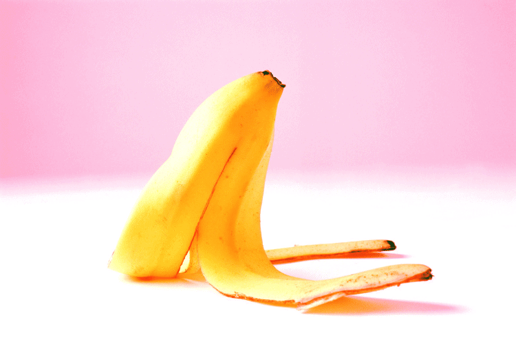 picture of slipping on banana peel